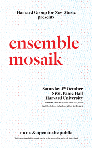 Poster: ensemble mosaik, 4 October 2014