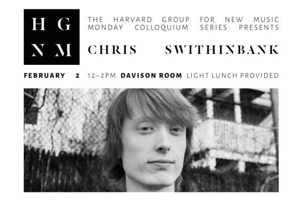 Chris Swithinbank, Colloquium Flyer