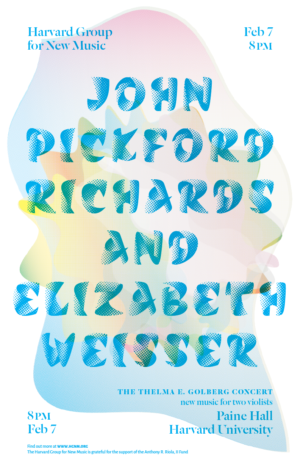 Poster: John Pickford Richards and Elizabeth Weisser, 7 February 2015