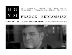 Franck Bedrossian, Colloquium Flyer