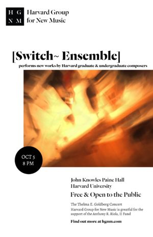 Poster for Switch concert featuring a saturated and moved orange image